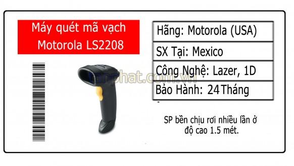 Đánh giá máy quét mã vạch Symbol Zebra LS2208 (1D)