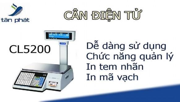Cân điện tử mã vạch tính tiền CAS CL5200 nhập từ Hàn Quốc