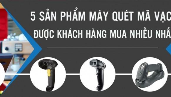 5 sản phẩm máy quét mã vạch được khách hàng mua nhiều nhất