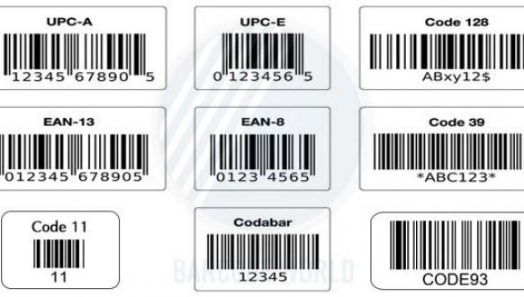 Những loại mã vạch 1D ở Việt Nam thường dùng