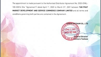 Tân Phát là nhà phân phối chính thức EPSON tại Việt Nam.