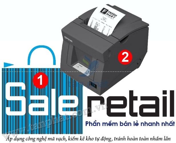 COMBO-2b: Máy in hóa đơn EPSON T82 + Phần mềm bán hàng