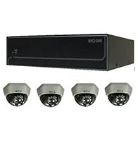 Bộ sản phẩm 4CAM+1A: gồm: 4 Camera KCA-5842+ 1 Đầu ghi Deeplet DE1204