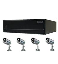 Bộ sản phẩm 4CAM+1B: gồm: 4 Camera KCA-7852+ 1 Đầu ghi Deeplet DE1204
