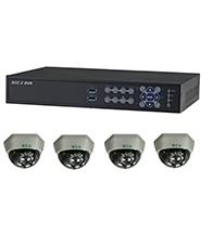 Bộ sản phẩm 4CAM+1C: gồm: 4 Camera KCA-5842+ 1 Đầu ghi Deeplet DE1504