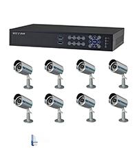 Bộ sản phẩm 8CAM+1B: gồm 8 Camera KCA-7852+ 1 Đầu ghi Deeplet DE1508