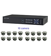 Bộ sản phẩm 16CAM+1A: gồm 16 Camera KCA-5842+ 1 Đầu ghi Deeplet DE1518