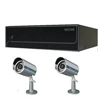 Bộ sản phẩm 2CAM+1B gồm: 2 Camera KCA-7852+ 1 Đầu ghi Deeplet DE1204