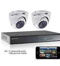 Gói 2 Camera dành cho gia đình gồm: 2 camera HIK và 1 đầu ghi HIK