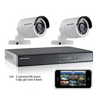 Gói 2 Camera dành cho shop bán hàng gồm: 2 camera HIK và 1 đầu ghi HIK