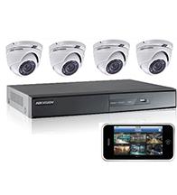 Gói 4 camera dành cho văn phòng: gồm 4 camera HIK và 1 đầu ghi HIK