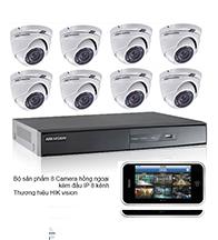 Gói 8 camera dành cho tiệm vàng: gồm 8 camera HIK và 1 đầu ghi HIK