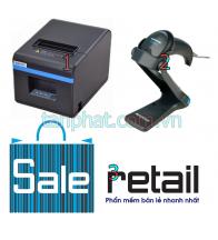 Combo 12052018-01: Máy in nhiệt Xprinter n200 + Máy đọc mã vạch Datalogic qw2100 + Phần mềm bán hàng