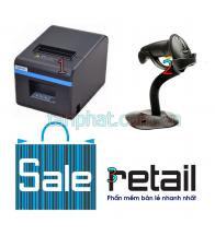 Combo 12052018-02: Máy in nhiệt Xprinter n200 + Máy đọc mã vạch Symbol Zebra LS2208 + Phần mềm bán hàng
