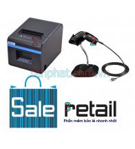 Combo 12052018-03: Máy in nhiệt Xprinter n200 + Máy đọc mã vạch Symbol LS1203 + Phần mềm bán hàng