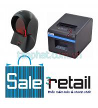 Combo 12052018-04: Đầu đọc mã vạch đa tia Honeywell MS7120 + Máy in nhiệt Xprinter n200 + + Phần mềm bán hàng