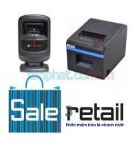 Combo 12052018-05: Máy đọc mã vạch Symbol Zebra DS9208 + Máy in nhiệt Xprinter n200 + Phần mềm bán hàng