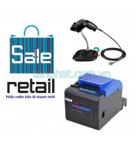 Combo 12052018-06: Phần mềm bán hàng + Máy đọc mã vạch Symbol LS1203 + Máy in hóa đơn Xprinter XP-C230H (USB)