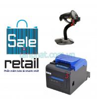 Combo 12052018-07:  Phần mềm bán hàng + Máy đọc mã vạch Symbol Zebra LS2208 + Máy in hóa đơn Xprinter XP-C230H