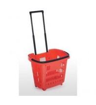Giỏ nhựa kéo hàng siêu thị