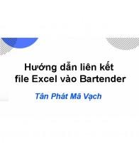 Hướng dẫn liên kết file Excel vào Bartender