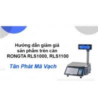 Hướng dẫn giảm giá sản phẩm trên cân RONGTA RLS1000, RLS1100