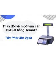 Khắc phục lỗi thay đổi kích cỡ tem cân SM320