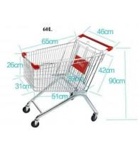 Xe đẩy hàng siêu thị 60 lít